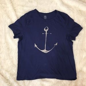 {Old Navy} Relaxed Fit Anchor Tee Shirt